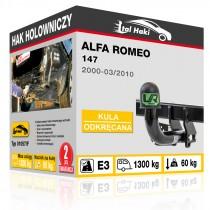 Hak holowniczy Alfa Romeo 147, 2000+, odkręcany (typ 01057/F)