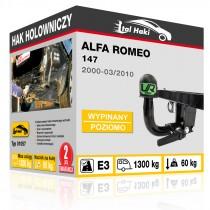 Hak holowniczy Alfa Romeo 147, 2000+, wypinany poziomo (typ 01057)
