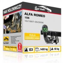 Hak holowniczy Alfa Romeo 156, 10/1997-05/2006, odkręcany (typ 01053/F)