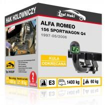 Hak holowniczy Alfa Romeo 156 SPORTWAGON Q4, 1997-05/2006, odkręcany (typ 01053/F)
