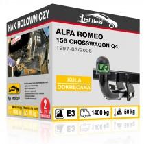 Hak holowniczy Alfa Romeo 156 CROSSWAGON Q4, 1997-05/2006, odkręcany (typ 01053/F)