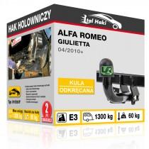 Hak holowniczy Alfa Romeo GIULIETTA, 04/2010+, odkręcany (typ 01056/F)