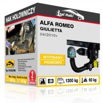 Hak holowniczy Alfa Romeo GIULIETTA, 04/2010+, wypinany pionowo (typ 01056/VM)