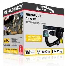 Hak holowniczy Renault CLIO IV, 12/2012+, wypinany pionowo (typ 31097/VM)