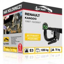 Hak holowniczy Renault KANGOO, 1997-12/2007, wypinany poziomo (typ 31096/C)