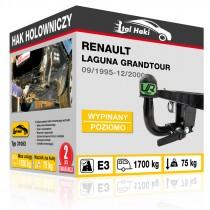 Hak holowniczy Renault LAGUNA GRANDTOUR, 09/1995-12/2000, wypinany poziomo (typ 31063)