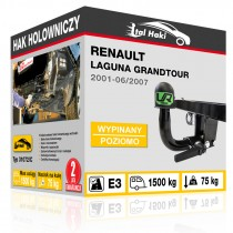 Hak holowniczy Renault LAGUNA GRANDTOUR, 2001-06/2007, wypinany poziomo (typ 31072/C)