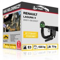 Hak holowniczy Renault LAGUNA II, 2001-06/2007, wypinany poziomo (typ 31073)
