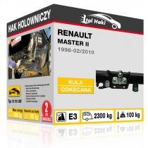 Hak holowniczy Renault MASTER II, 1998-02/2010, odkręcany z kołnierzem (typ 31101/SF)
