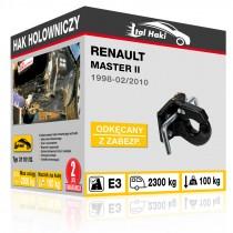 Hak holowniczy Renault MASTER II, 1998-02/2010, odkręcany z zabezpieczeniem (typ 31101/G)