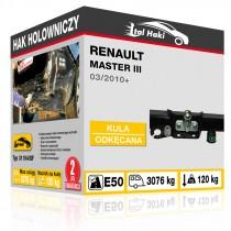 Hak holowniczy Renault MASTER III, 03/2010+, odkręcany z kołnierzem (typ 31104/SF)