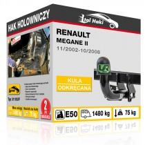Hak holowniczy Renault MEGANE II, 11/2002-10/2008, odkręcany (typ 31105/F)