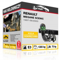 Hak holowniczy Renault MEGANE SCENIC, 1997-06/2003, odkręcany (typ 31059/F)