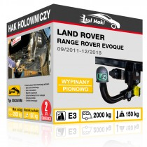 Hak holowniczy Land Rover RANGE ROVER EVOQUE, 09/2011+, wypinany pionowo (typ 03028/VM)