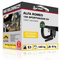 Hak holowniczy Alfa Romeo 156 SPORTWAGON Q4, 1997-05/2006, wypinany poziomo (typ 01053/C)