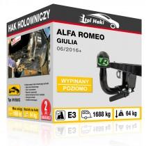 Hak holowniczy Alfa Romeo GIULIA, 06/2016+, wypinany poziomo (typ 01058/C)