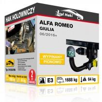 Hak holowniczy Alfa Romeo GIULIA, 06/2016+, wypinany pionowo (typ 01058/VM)