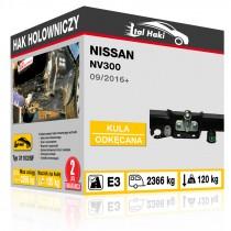 Hak holowniczy Nissan NV300, 09/2016+, odkręcany z kołnierzem (typ 31103/SF)